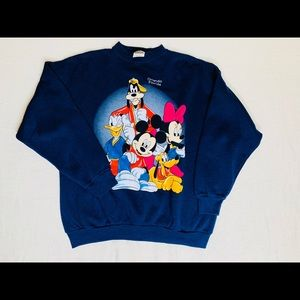 Vintage Disney navy blue sweater.